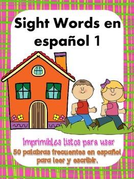 Sight words en español 1   Palabras de Alta Frecuencia