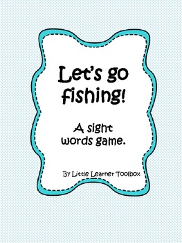 Sight words game (Dolch): Let's Go Fishing!