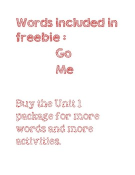 Sight words: read, find, write, and draw Freebie
