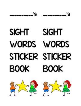 Sight words sticker book