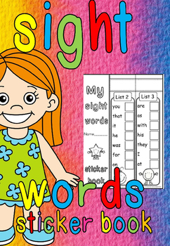 Sight words sticker book(editable)