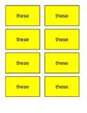 Sight words these and so BANG! game