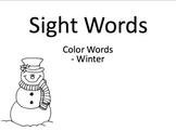 Sight words - winter theme