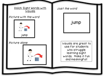 Sight words with pictures