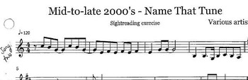 Sightreading with pop tunes