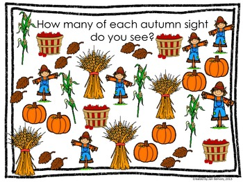 Sights of Autumn Line Plot and Pictograph Activity