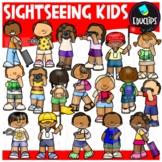 Sightseeing Kids Clip Art {Educlips Clipart}