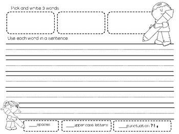 Sightword Sentence Writing Journal-Kindergarten to Grade 1