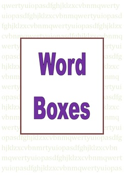 Sightword Boxes
