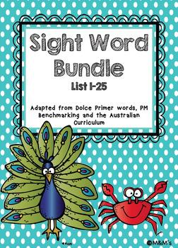 Sightword Bundle Updated