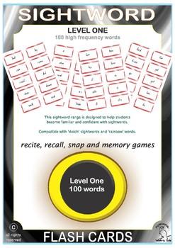 Sightword Flashcards - Level One