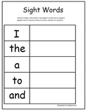 Sightword Magnet Game