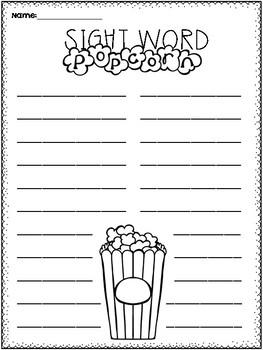Sightword Popcorn