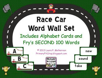 """Sightword Speedway"" Word Wall Set for Fry's SECOND 100 Words"