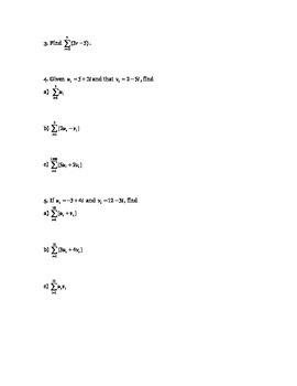 Sigma Notation Guided Notes