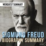 Sigmund Freud: Biography Summary Webquest (PDF & Google Drive)