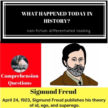 Sigmund Freud Differentiated Reading Passage April 24