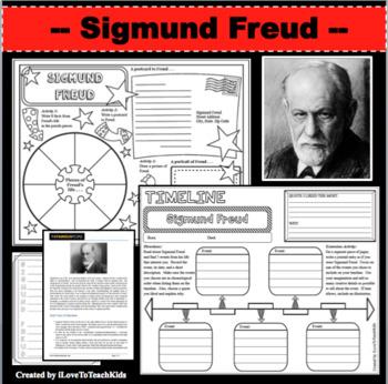 Sigmund Freud Timeline Poster Acrostic Poem Activity with Reading Passage