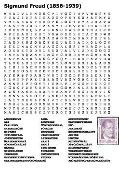 Sigmund Freud Word Search