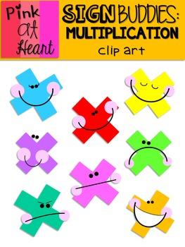 Sign Buddies Multiplication Clip Art