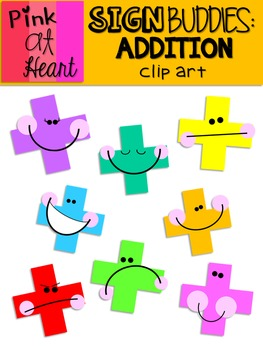 Sign Buddies Addition Clip Art