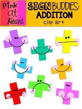 Sign Buddies Addition Clip Art