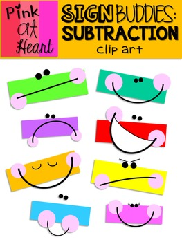 Sign Buddies Subtraction Clip Art