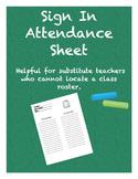 Sign In Attendance Sheet