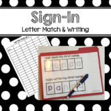 Sign-In Sheet Preschool PreK Kinder Adaptive Name