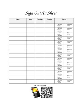 classroom sign in sheet with google form qr code option by spill