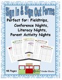 Sign In & Sign Out Forms - Six Holiday Themes