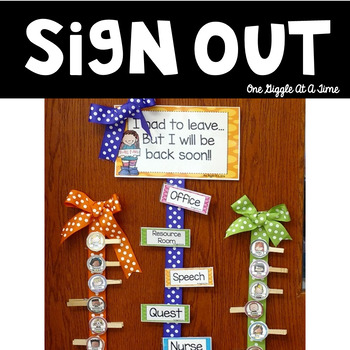 Sign In & Sign Out Tags (Polka Dot Bright)