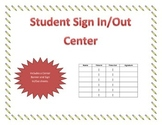 Sign In/Out Student Center
