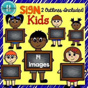 Sign Kids- Chalkboard