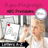 Sign Language ABC Printables