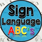 Sign Language ABC's - Print and Go!
