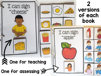 Sign Language - ASL - Activities for Basic Foods, Fruits, & Vegetables