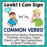 Sign Language (ASL) Printable Activities for Common VERBS or ACTION WORDS