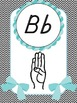 Sign Language (ASL) Alphabet Posters in Sweet Chevron (WITH BOWS*)