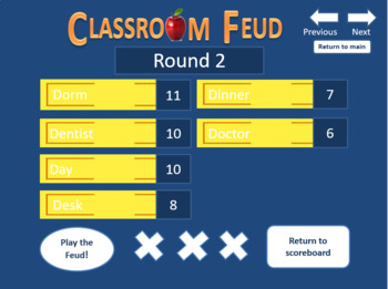 Sign Language (ASL) Classroom Feud.  (Family Feud style game)