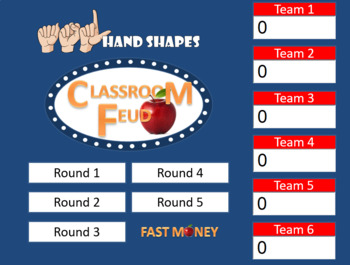 Sign Language (ASL) Classroom Feud  (Family Feud style game