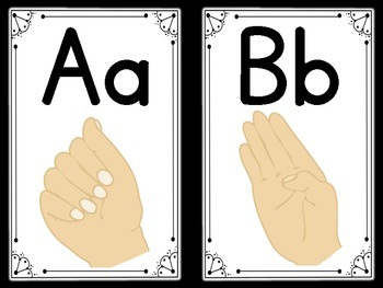 Sign Language (ASL) Flashcards {Letters A-Z} {Primary and D'nealian}