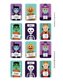 Sign Language ASL Halloween Joke Trading Cards Full Color, Game Sign Language