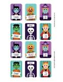 Sign Language ASL Halloween Match Up Cards Full Color, Gam