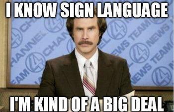 Sign Language Memes and Meme Wall Activity. (154 memes)