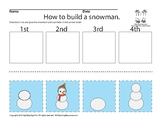 Sign Language ASL Sequencing Snowman Color & Black and White
