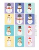 Sign Language ASL Snowman Match Up Cards Full Color, Game Sign Language