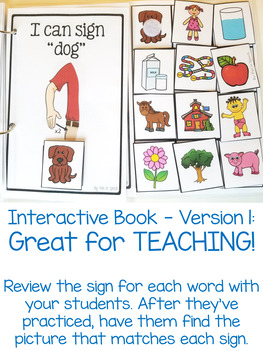 American Sign Language (ASL) Activities for Common First Words - Nouns!!