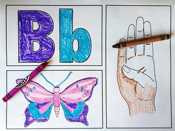 Sign Language Alphabet ABCs Coloring Sheets and Room Border