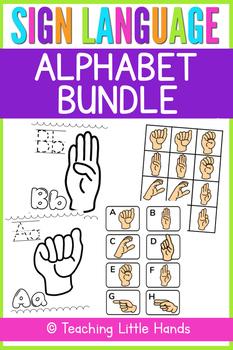 Sign Language Alphabet Bundle